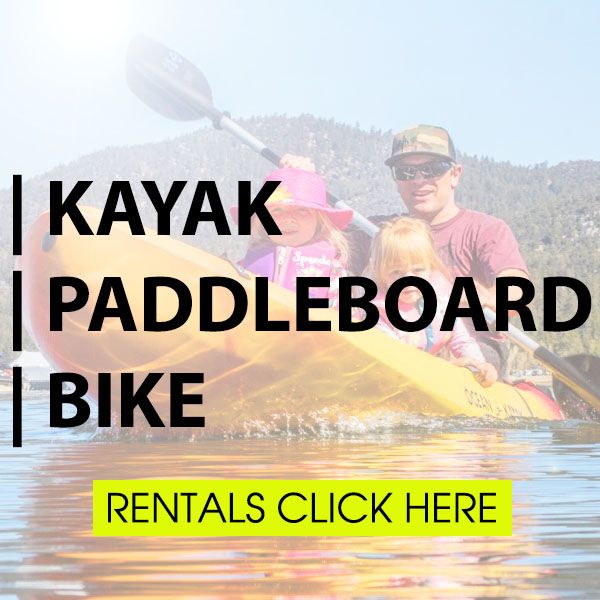 Kayak Paddle Board SUP Bike Rental Hire Big Bear